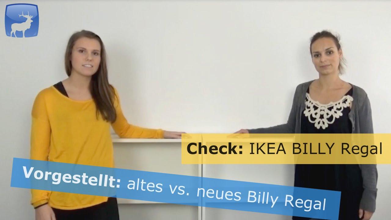 ikea billy regal vergleich von neu und alt outtakes youtube. Black Bedroom Furniture Sets. Home Design Ideas