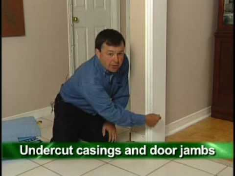 Proper Installation Of Flooring Around Doors And