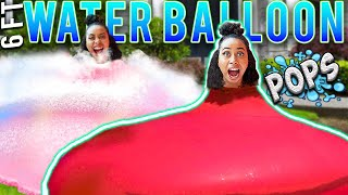 TRAPPED My Best Friend Inside GIANT Water BALLOON  *She FREAKS OUT* | $1000 Challenge!!