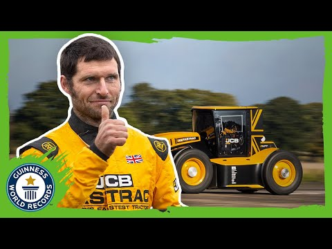 Turbocharged Fastest Tractor! - Guinness World Records
