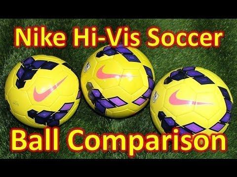 Nike Hi-Vis Soccer BallFootball Comparison - Incyte vs Saber vs Strike