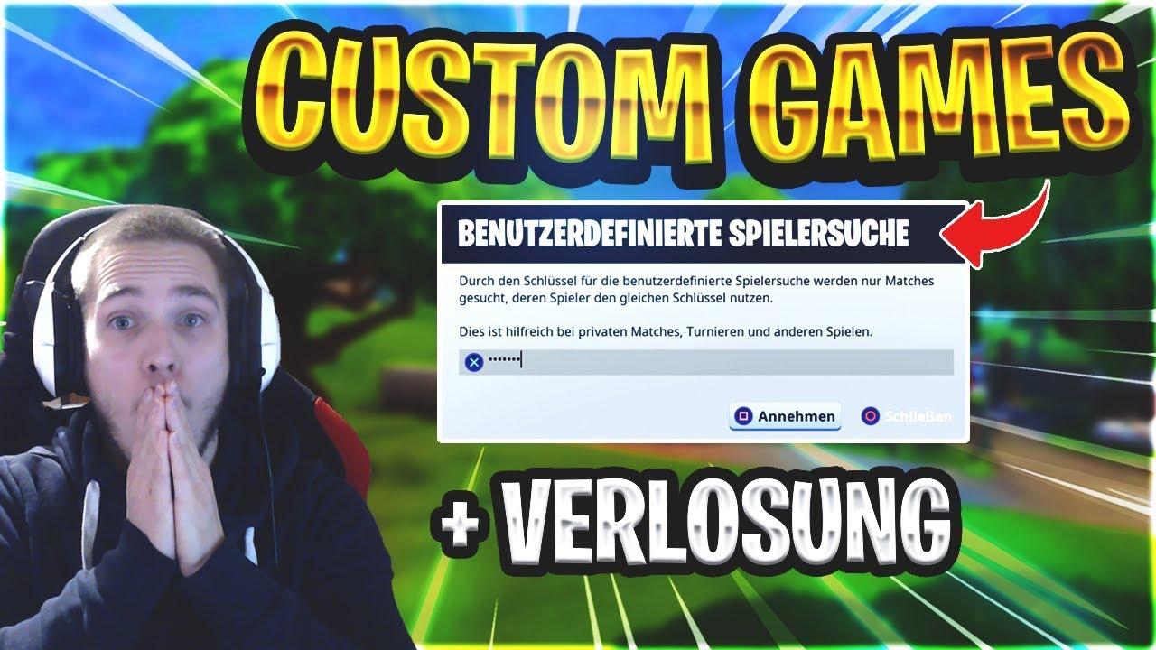 fortnite custom games live jeder kann mitspielen fortnite live deutsch verlosung 10 - fortnite custom games turnier