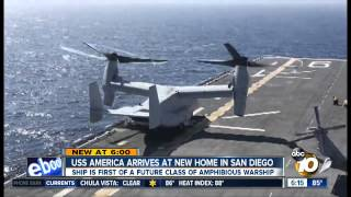 USS America New Warship stationed in San Diego