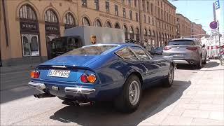 Ferrari Daytona driving around in Munich | Start up, fast acceleration