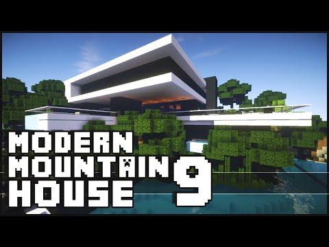 Minecraft Epic Modern Mountain House 9
