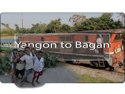 Cool Train in Yangon, Myanmar (Burma)