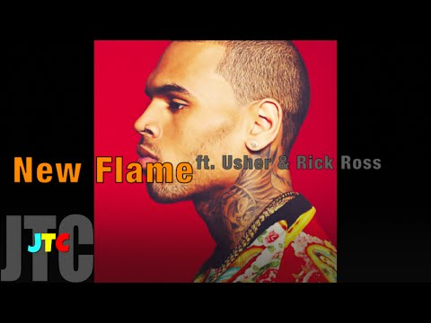 Chris Brown ft. Usher & Rick Ross - New Flame (Lyrics)