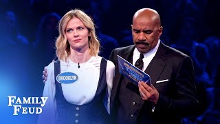 Brooklyn Decker's FANTASTIC Fast Money! | Celebrity Family Feud