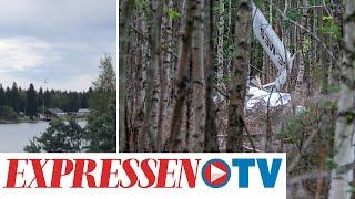 Flygplanskrasch i Umeå – vittne filmade