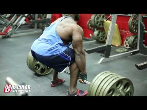 Akim Williams   BACK AND BICEPS WORKOUT 2013 IFBB North Americans