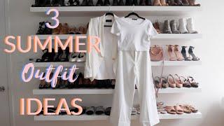 3 EASY & FUN ALL-WHITE SUMMER OUTFITS | Summer Fashion Ideas 2019