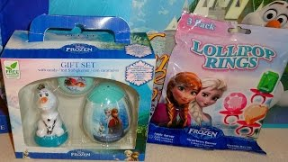 Disney Frozen Olaf Elsa & Anna Gift Box Toys & Bags for Girl Xmas Unboxing