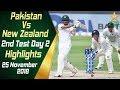 Pakistan Vs New Zealand | Highlights | 2nd Test Day 2 | 25 November 2018 | PCB