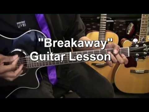 How To Play Kelly Clarkson BREAKAWAY On Guitar Lesson EricBlackmonMusicHD
