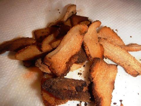 Шкварки Жареное сало Бекон | Bacon Pork rinds Fried fat