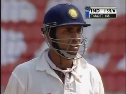 India v Australia 3rd Test Chennai 2001 - India chase 155 to win the series