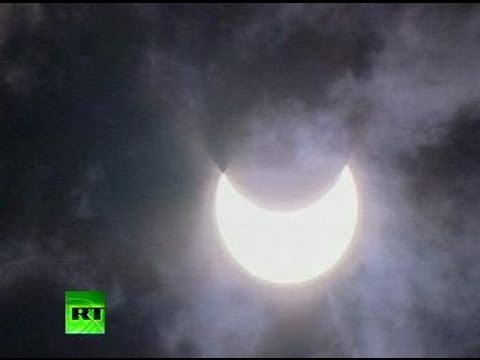 Video of partial solar eclipse seen around the world on January 4, 2011
