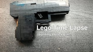 Lego Time Lapse (building a black gun?!)