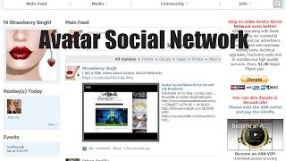 Avatar Social Network for Second Life Residents