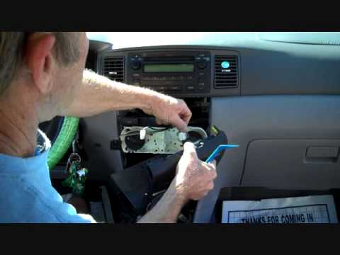 Toyota Corolla Car Stereo Removal 2003 2008