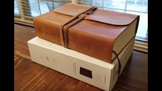 Crossway ESV Journaling Bible, Interleaved Edition in Natural Brown Leather w/strap - Review