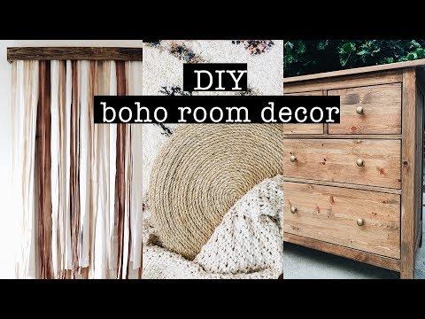 DIY BOHO ROOM DECOR on a budget // Bedroom Makeover (PART 1) - YouTube