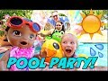 Download Lagu Baby Alive Has Fun In The Sun! Pool Party! The Lily And Mommy Show. The Toytastic Sisters.