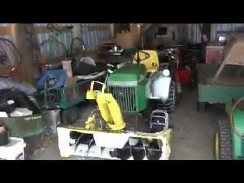 John Deere 318 Tractor with Model 49 Snowthrower