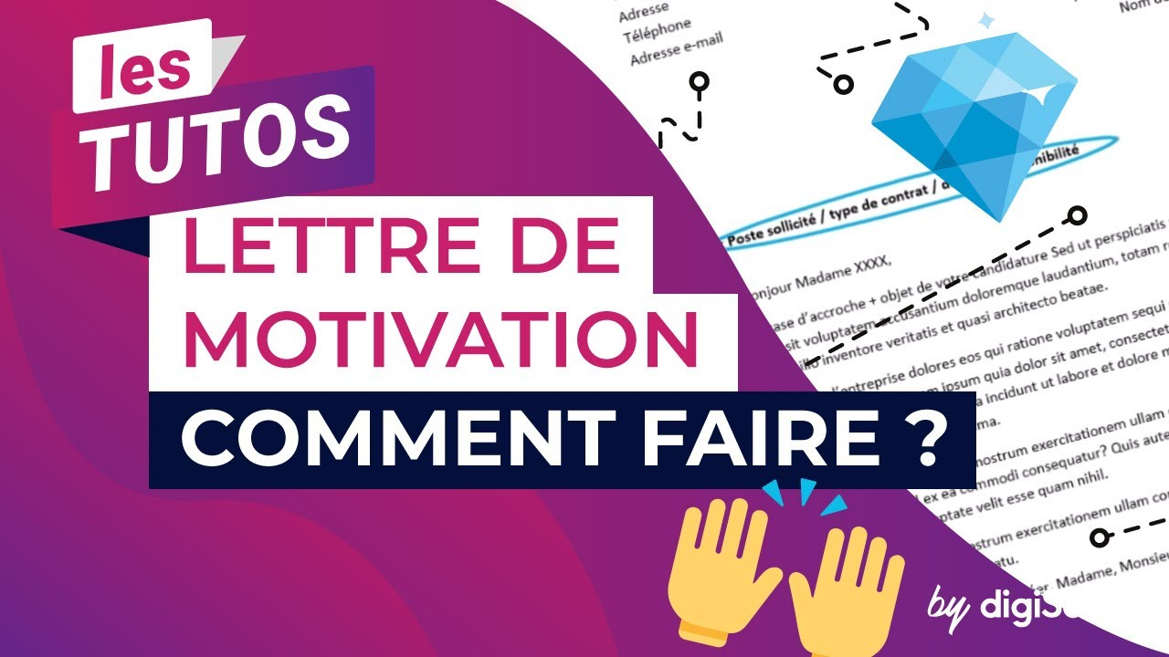 Comment faire une lettre de motivation youtube - Comment faire une chape allegee ...