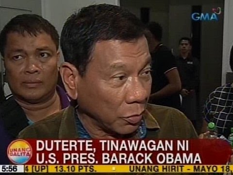 UB: Duterte, tinawagan ni US Pres. Barack Obama