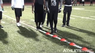 Chad Ochocinco, Andre Johnson, Santana Moss, Antonio Brown workout - AthleteIntel