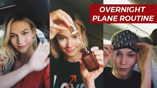 Get Un-Ready With Me | Overnight Plane Routine | Karlie Kloss