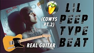 How To Make Lil Peep REAL GUITAR Type Beat (COWYS Pt. 2) TUTORIAL!