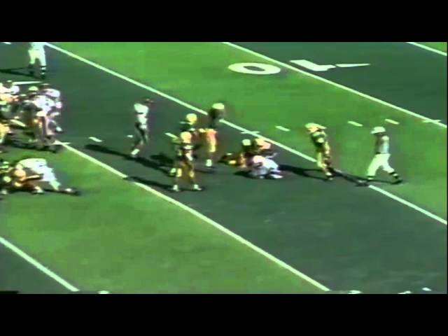 Oregon WR Grady O'Conner big hit on opening kickoff vs. NMSU 10-05-91