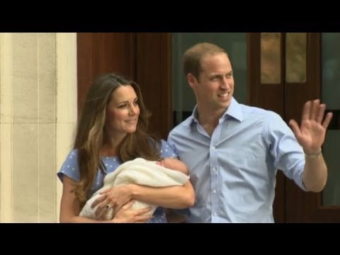 First glimpse of the royal baby