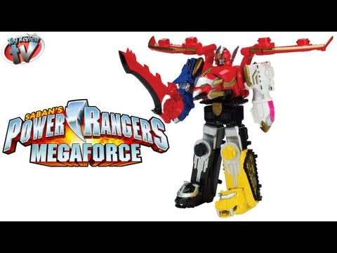 Power Rangers Megaforce Gosei Great Megazord Toy Review. Bandai
