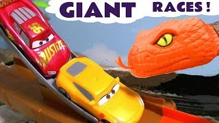 Hot Wheels Cars Giant Races with Superhero Cars and Disney Cars McQueen TT4U