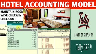 Hotel accounting model in tally . room wise reports. Hotel accounting in tally