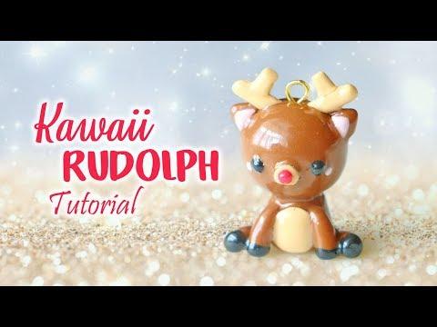 Kawaii Rudolph Reindeer│Polymer Clay Tutorial