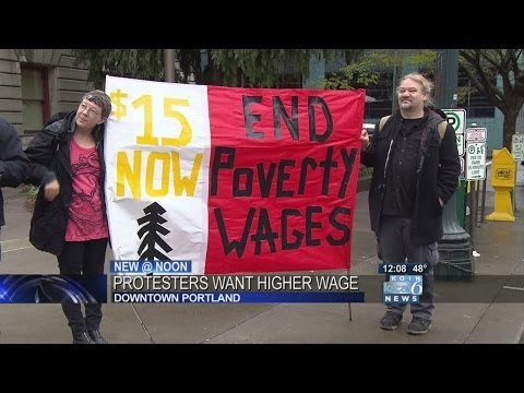 Demonstrators call for $15/hour wages