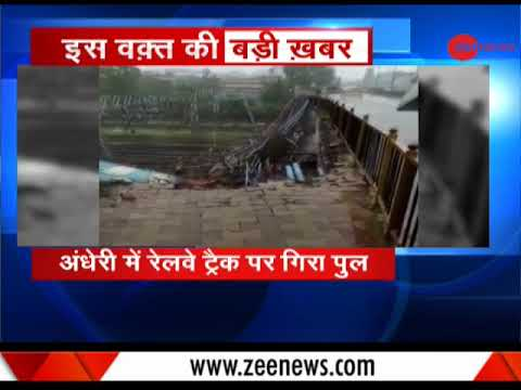 Mumbai rains: Part of Andheri bridge collapses on railway tracks
