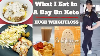 What I Eat In A Day On Keto PLUS Huge Weightloss!