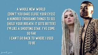 ZAYN, Zhavia Ward - A Whole New World (Lyrics)