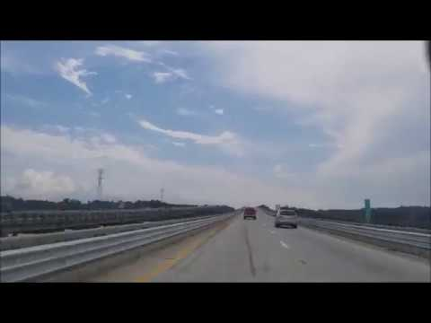 4K Driving From South Carolina to Georgia Timelapse on the i95 Intersate 95