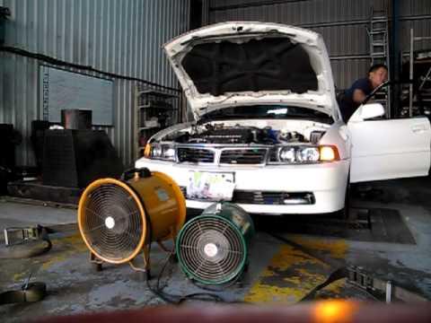 1999 mitsubishi lancer install 6a12 mivec engine + TD04L turbo
