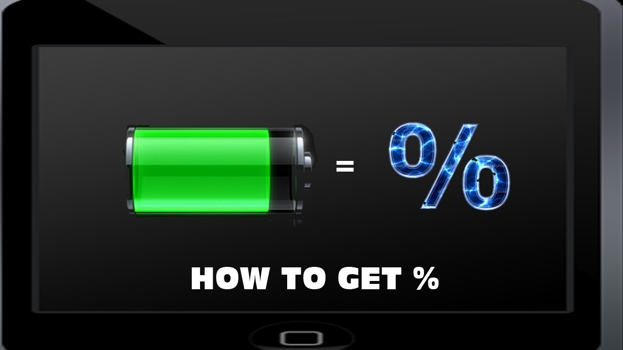 how to put battery percentage on ipod touch