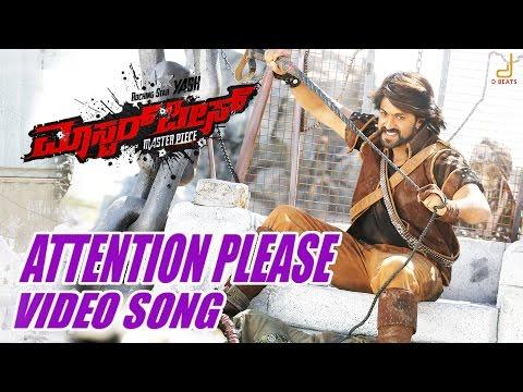Masterpiece - Attention Please Kannada Movie Video song , Yash, V Harikrishna, Manju Mandavya