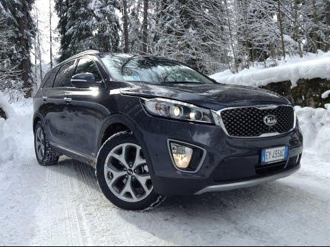 NEW KIA SORENTO 2015 - FIRST SNOW TEST DRIVE ONLY SOUND