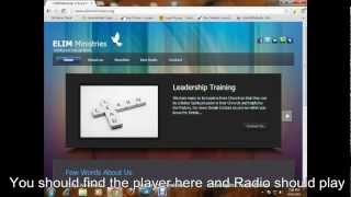 ELIM LIVE RADIO | VIDEO TUTORIAL TO SHOW HOW TO PLAY OUR RADIO