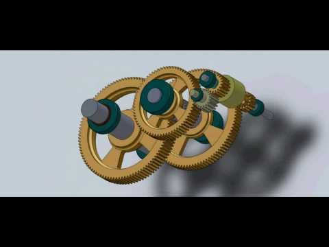 SolidWorks Animation - Gearbox Design #1